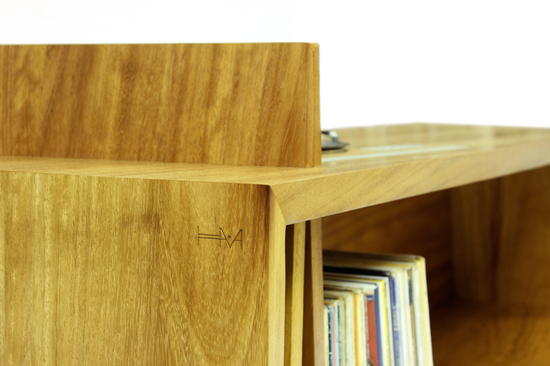 Folded Record Bureau HM mark by Hugh Miller, handmade furniture designer and cabinet makers and furniture designers in Liverpool, Cheshire, Wiiral and Chester
