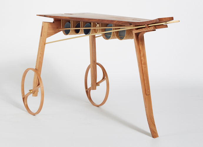 Coffee Cart no.1 by Hugh Miller. Part of 'The Coffee Ceremony' Collection. Hugh Miller Studio Furniture.